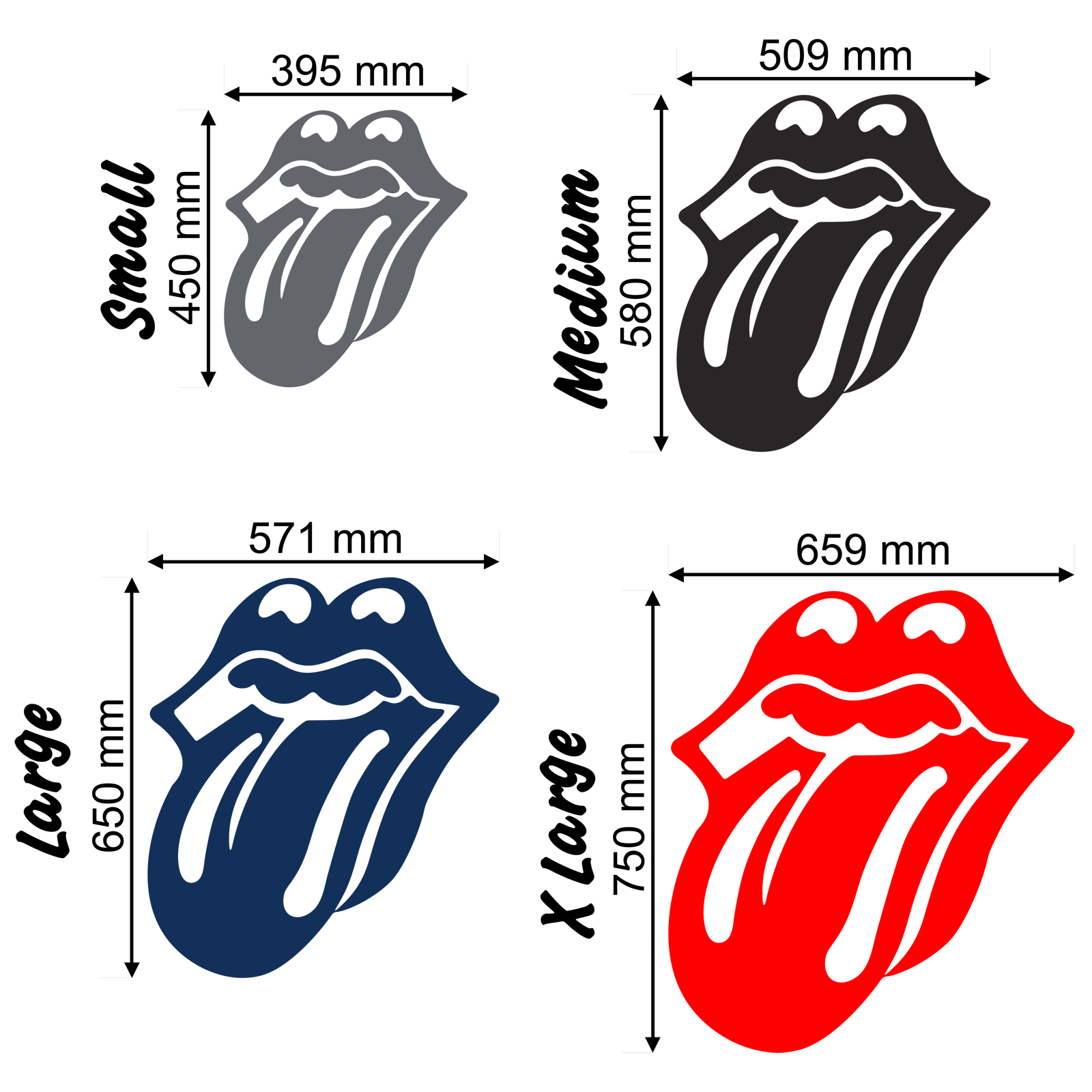 1600x1600 Rolling Stones Tongue Wall Stickers Amp Decals