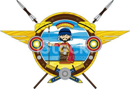 436x299 Ancient Roman Soldier With Spear Stock Vectors