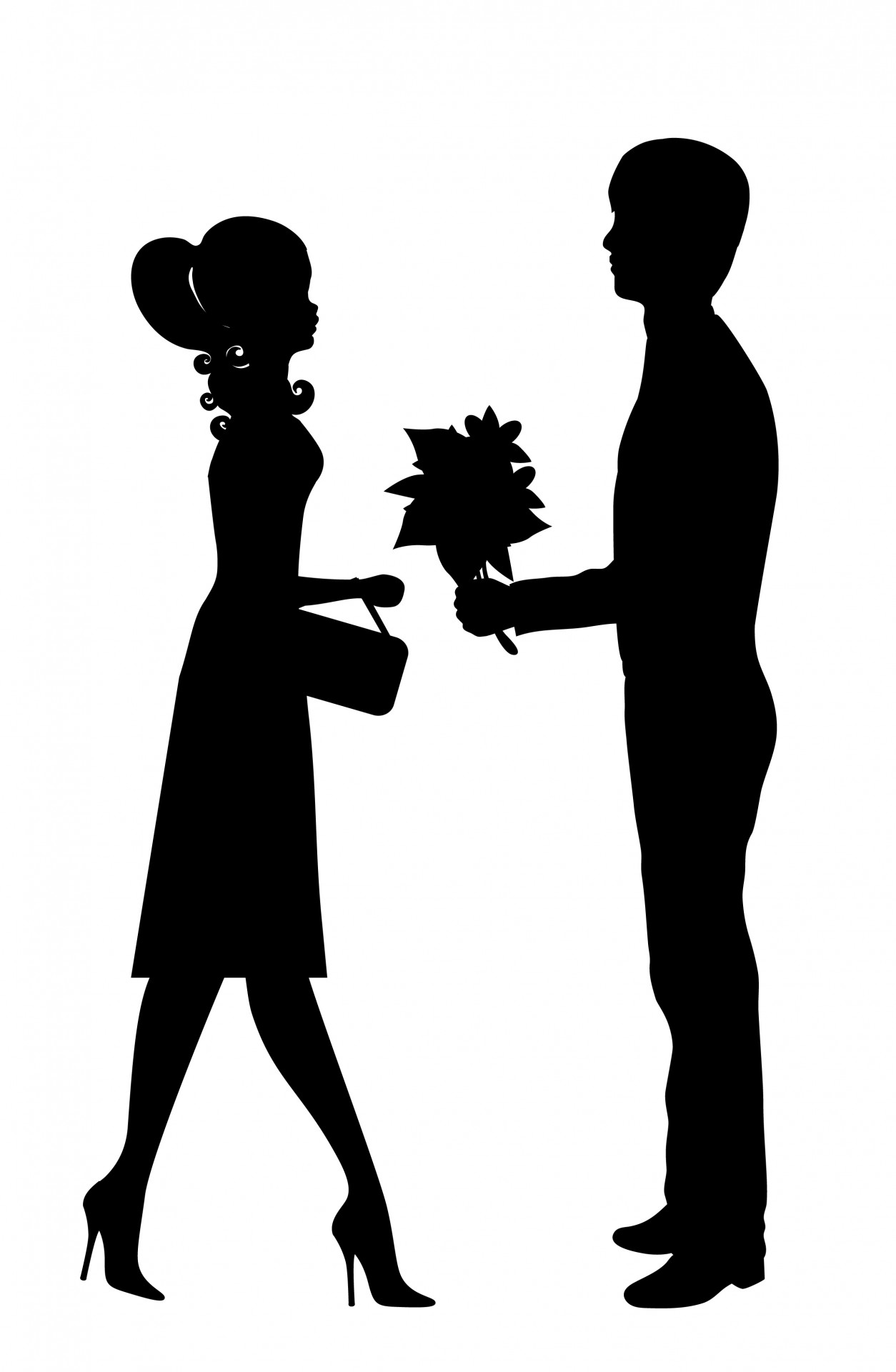 1254x1920 Romantic Young Couple Clipart Free Stock Photo