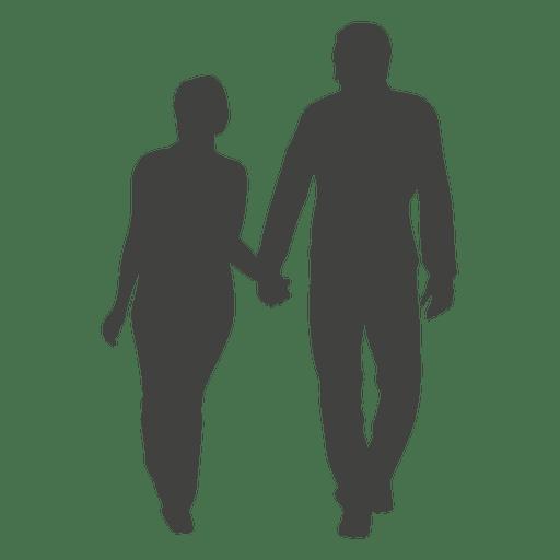 512x512 Happy Romantic Couple Silhouette