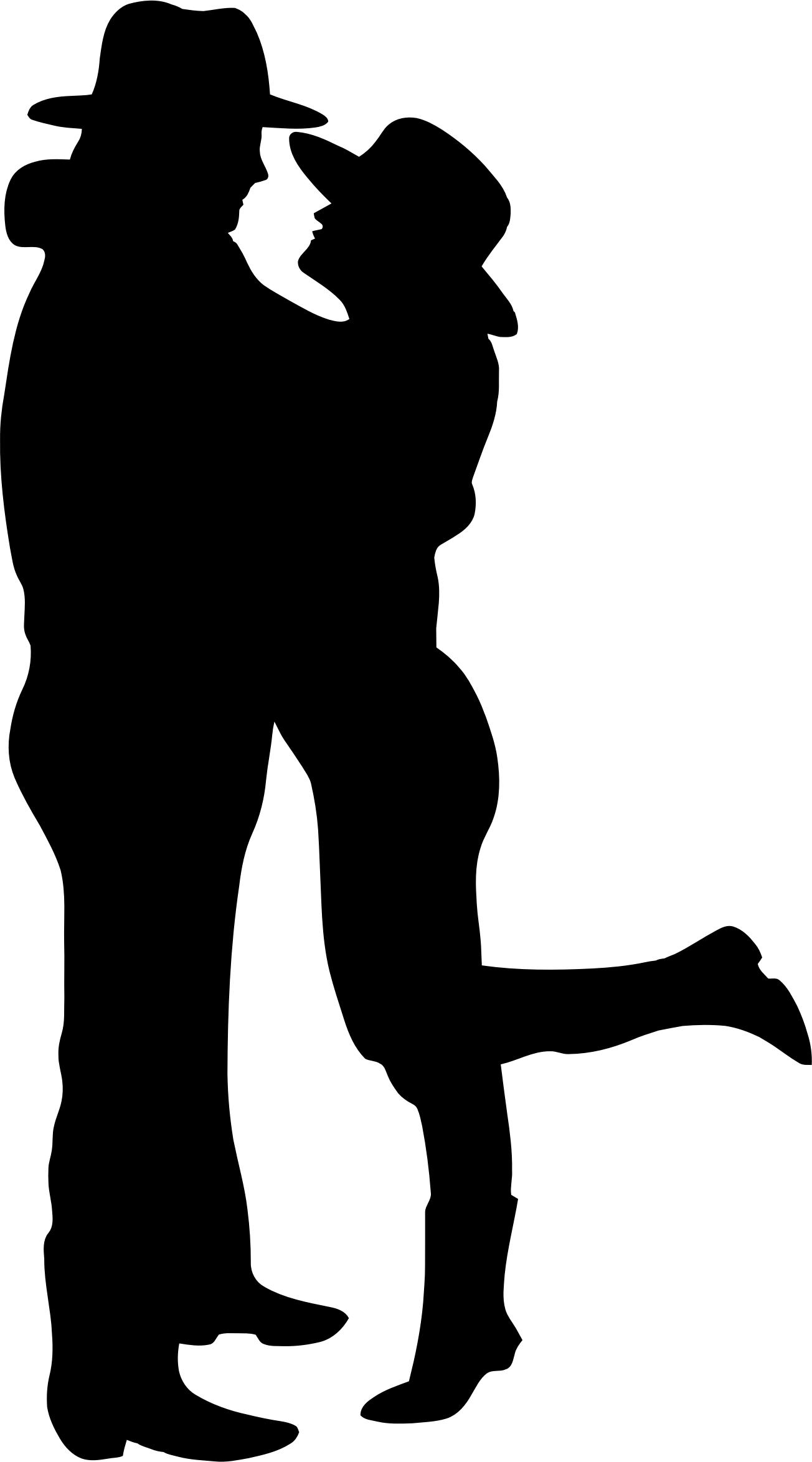 1304x2349 Romantic Couple Silhouette Icons Png