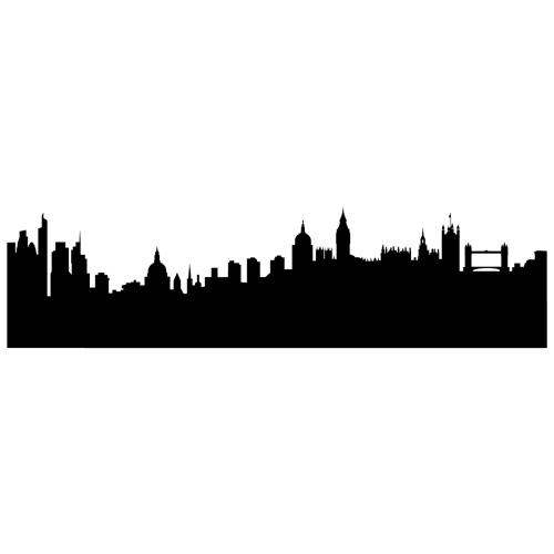 500x500 London Silhouette Skyline Mirror London Silhouette, Neverland