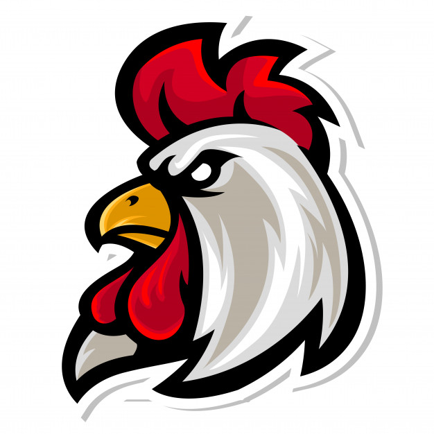 626x626 Rooster Head Mascot Logo Vector Premium Download
