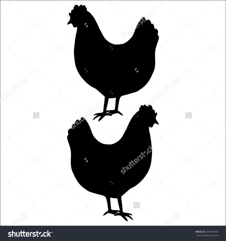 Rooster Silhouette Vector Free