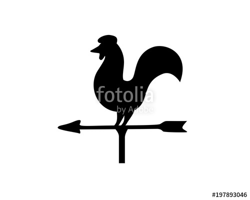 500x400 Rooster, Weather Vane, Wind Direction Stock Image And Royalty