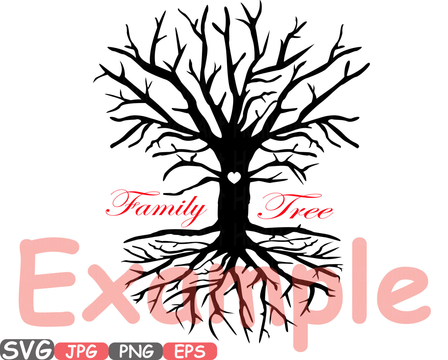 1500x1207 Family Tree Svg Word Art Family Quote Clip Art Silhouette