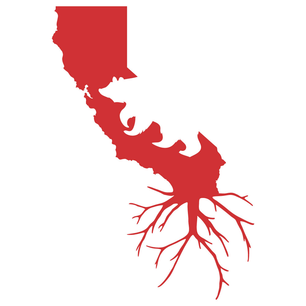 1000x1000 Silhouette Roots Decal We Are California Grown