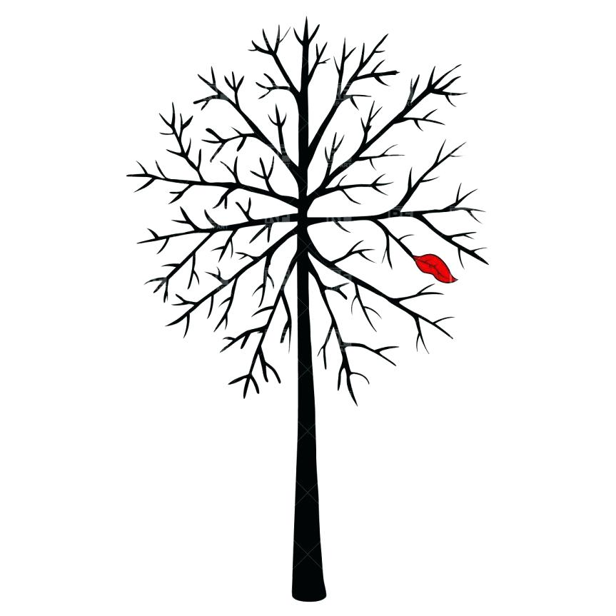 863x863 Vector Tree With Roots Silhouette Black Outline Black Vector Tree