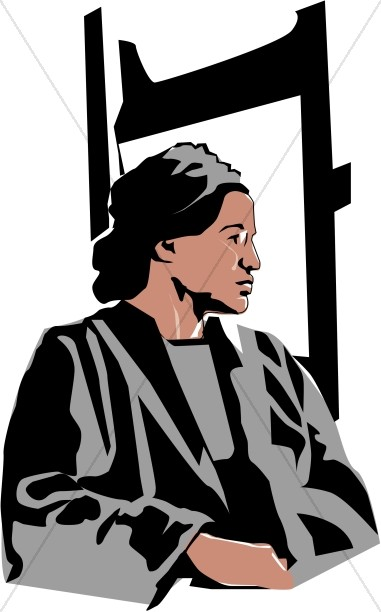 381x612 Rosa Parks Begins The Civil Rights Movement Famous People Clipart