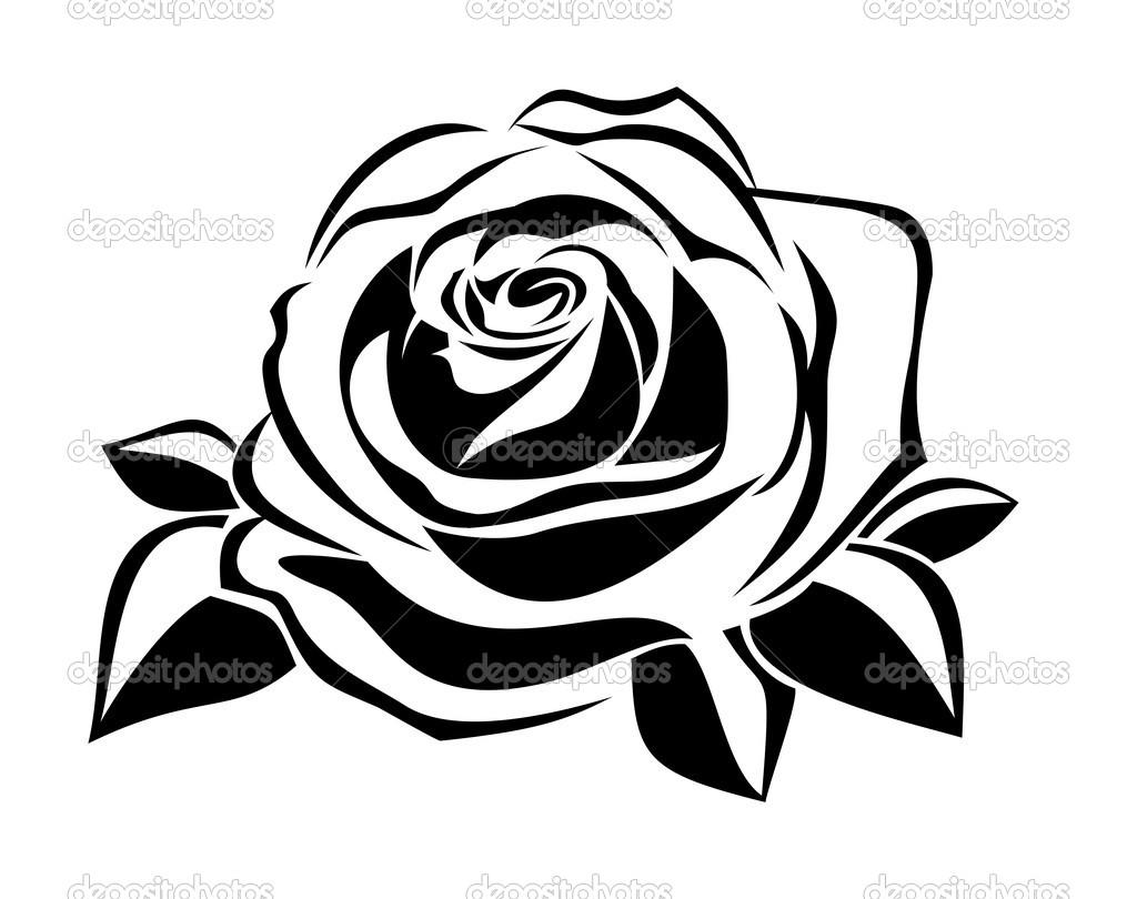 Rose Silhouette Clip Art