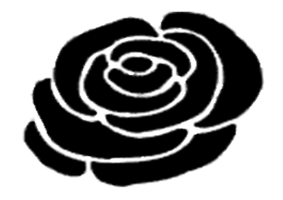 1123x794 Ireland Rose Silhouette 2 Clipart