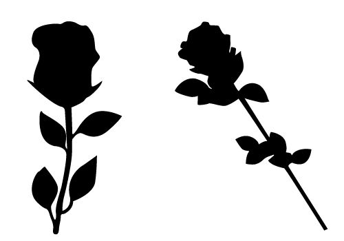 500x350 Lovely Rose Silhouette Vector Free Download Silhouette Clip Art