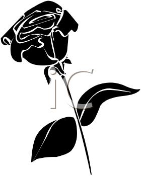 284x350 Rose Silhouette Clip Art Black And White Rose Silhouette