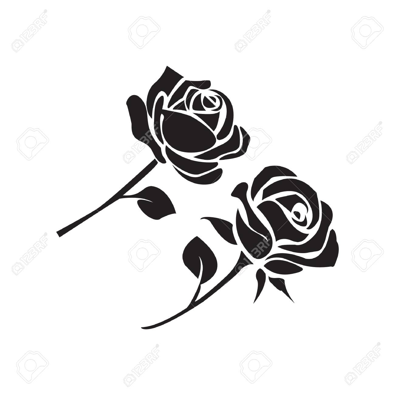 rose silhouette vector at getdrawings com free for personal use rh getdrawings com rose vector art free rose vectorielle