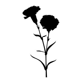 339x340 Free Silhouette Vector Flower, Roses, Up, Art