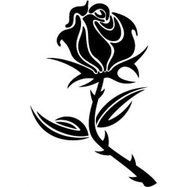 626x626 Black Rose Vector Vector Free Download