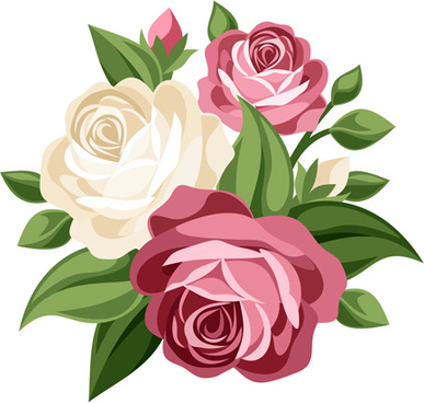 387x368 Flower Bouquet Free Vector Download (10,168 Free Vector)