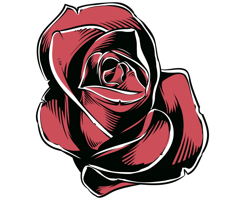 3000x2455 Rose Svg, Rose Blossom Svg, Rose Outline Svg, Rose Silhouette