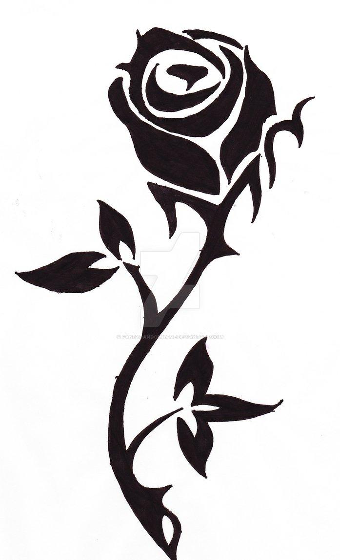 697x1146 Rose Silhouette By Fancyrandomname