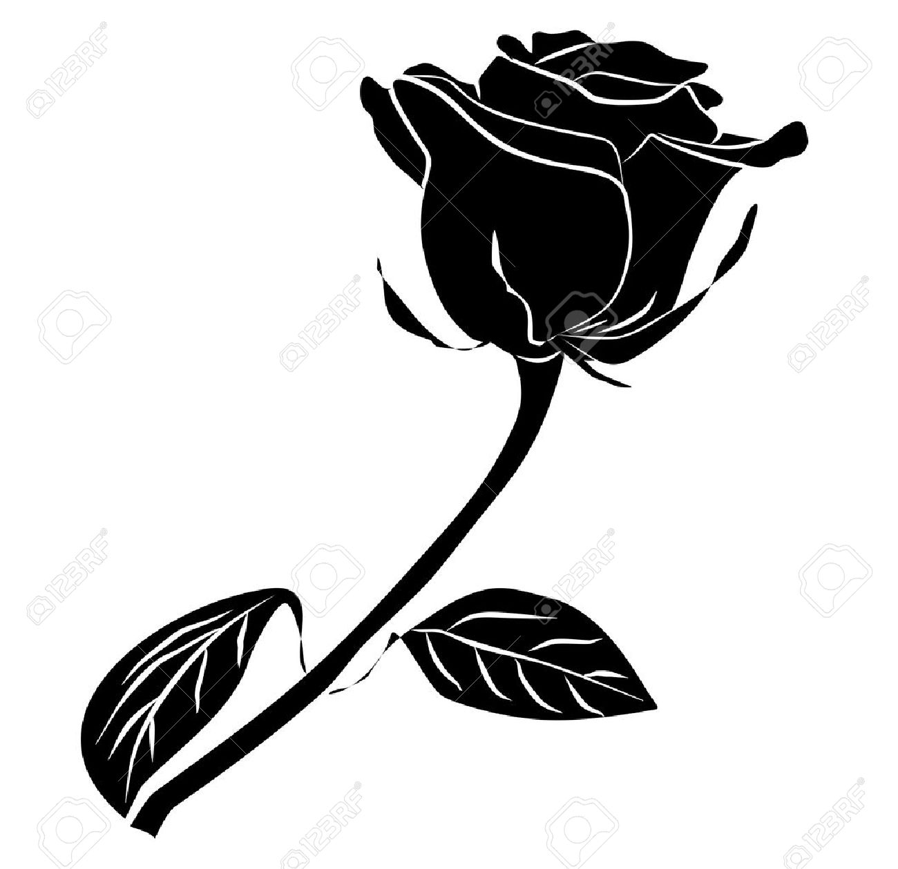 1300x1259 Rose Silhouette Clipart Collection