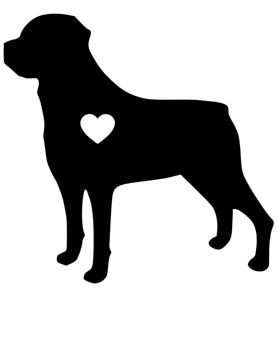 Rottweiler Silhouette Clip Art At Getdrawingscom Free For