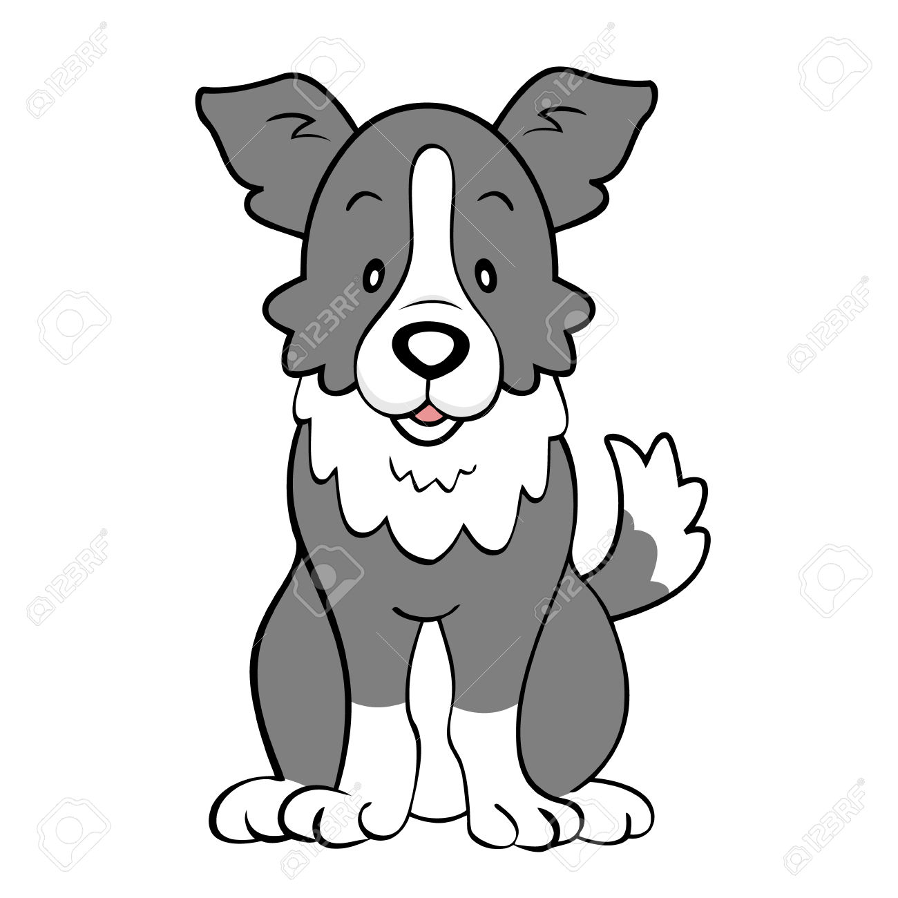 rough collie silhouette at getdrawings com free for personal use rh getdrawings com cartoon border collie clipart cartoon border collie clipart