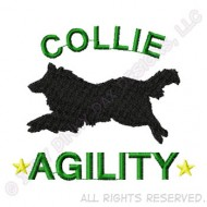 190x190 Silhouette Rough Collie Decal Sew Dog Crazy