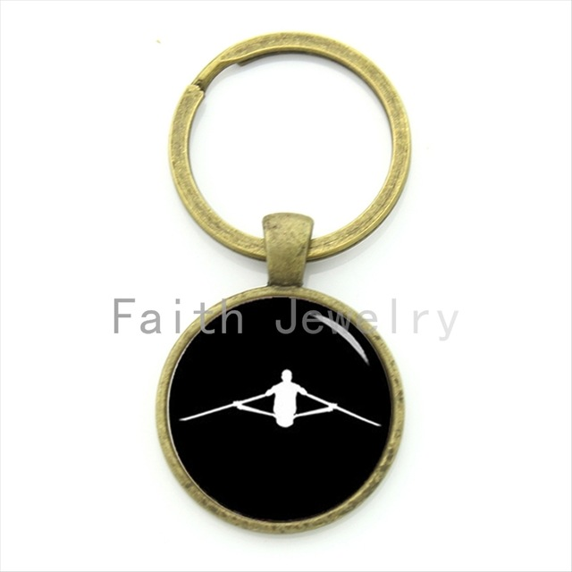 640x640 Newest Arrival Boat Keychain Retro Charm Design Rowing Silhouette