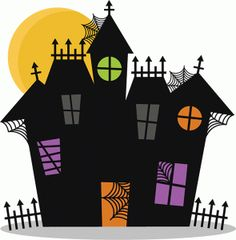 236x240 Scary House Silhouette Clip Art Quiet Books Scary