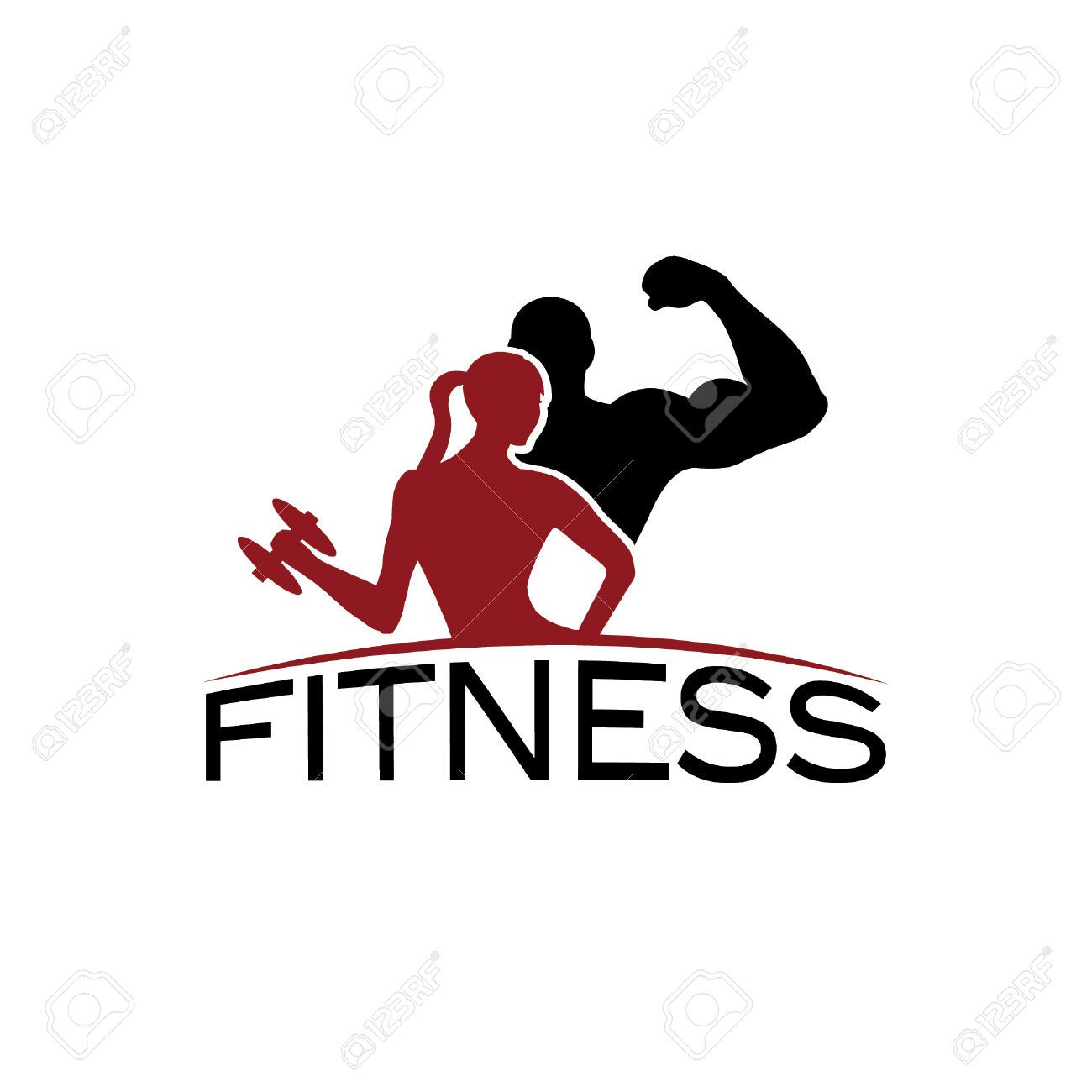 1300x1300 Man And Woman Of Fitness Silhouette Character Vector Design