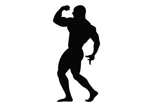 500x350 Bodybuilder Silhouette Vector Free Download Crafts