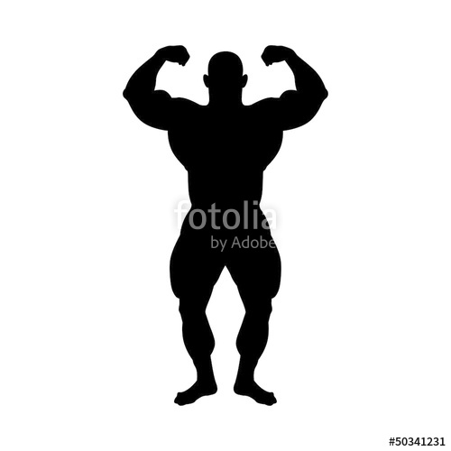 500x500 Bodybuilding Silhouette Stock Image And Royalty Free Vector Files