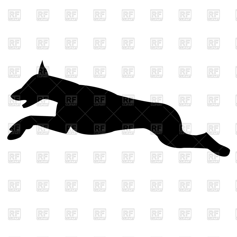 1000x1000 Silhouette Of Jumping Dog