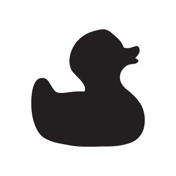 rubber duck silhouette at getdrawings com free for personal use