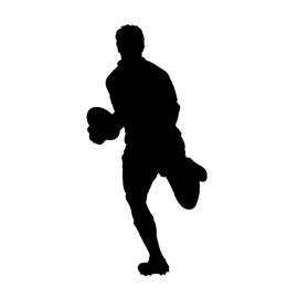270x270 Rugby Player Silhouette 01 Stencil Free Stencil Gallery