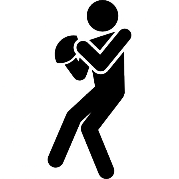 626x626 Rugby Player Silhouette With The Ball In Hands Icons Free Download