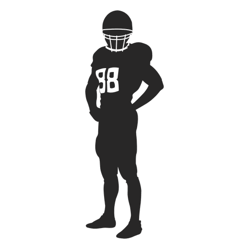 512x512 Rugby Player Standing Silhouette