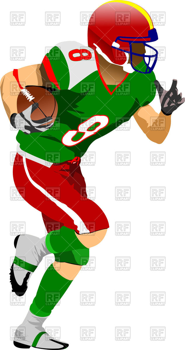634x1200 Silhouette Of American Football (Rugby) Player In Action