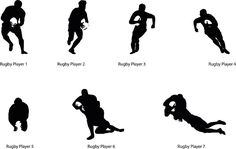 236x149 Three Rugby Player Silhouette Royalty Free Cliparts, Vectors,