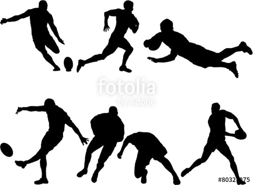 500x365 6 Rugby Silhouettes Stock Image And Royalty Free Vector Files