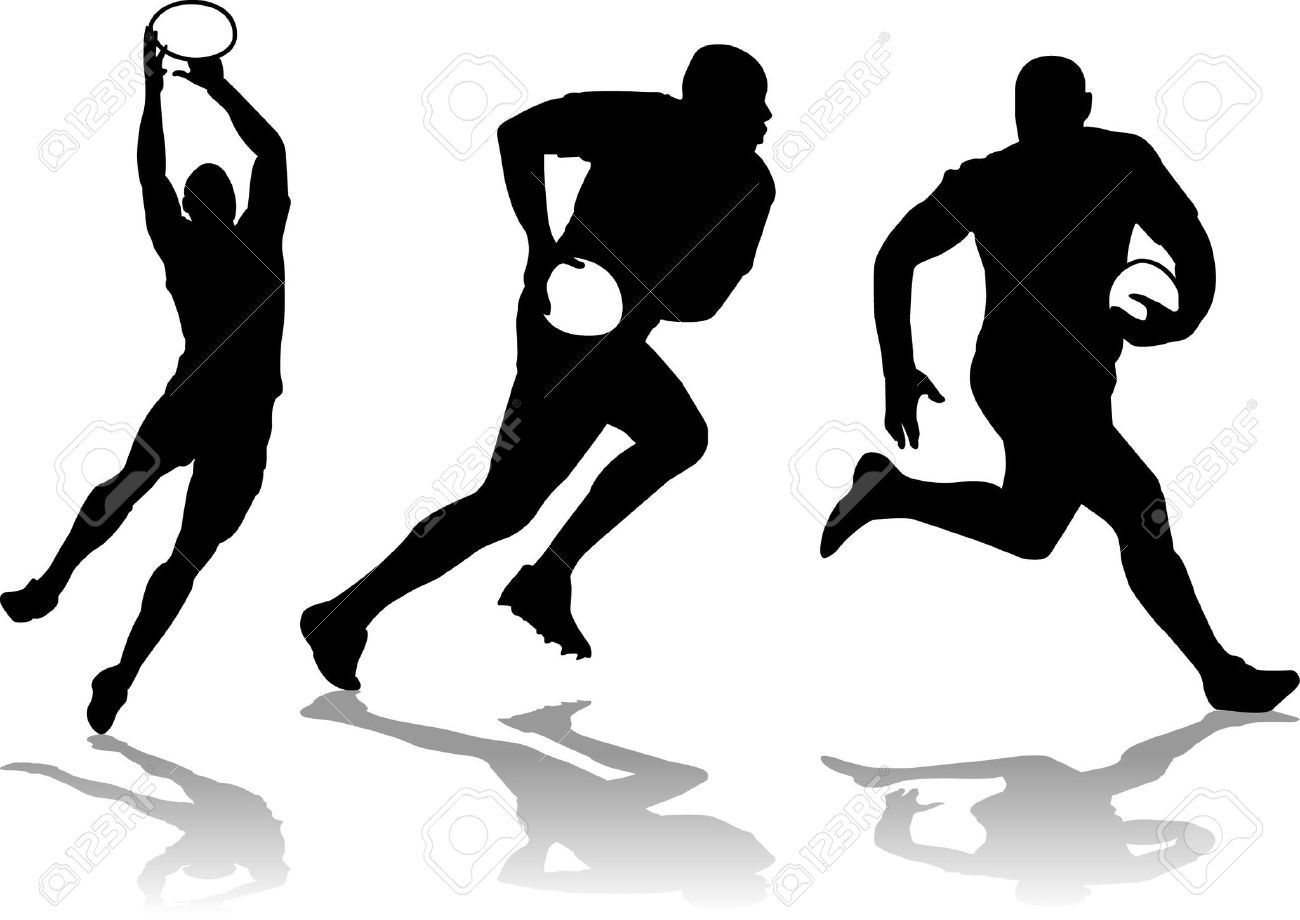 1300x920 Three Rugby Player Silhouette Royalty Free Cliparts, Vectors,