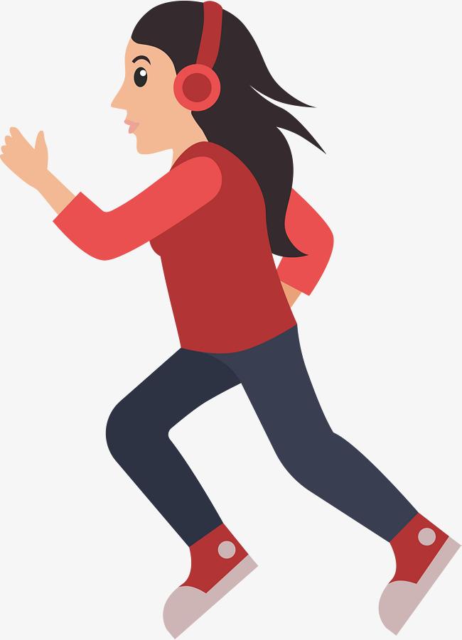 650x901 Cartoon Runner, Running Trace, Running Woman Cartoon, Running