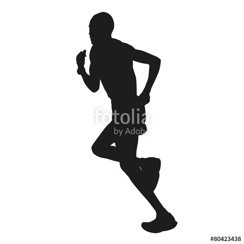 500x500 Marathon Runner Silhouette Stock Image And Royalty Free Vector