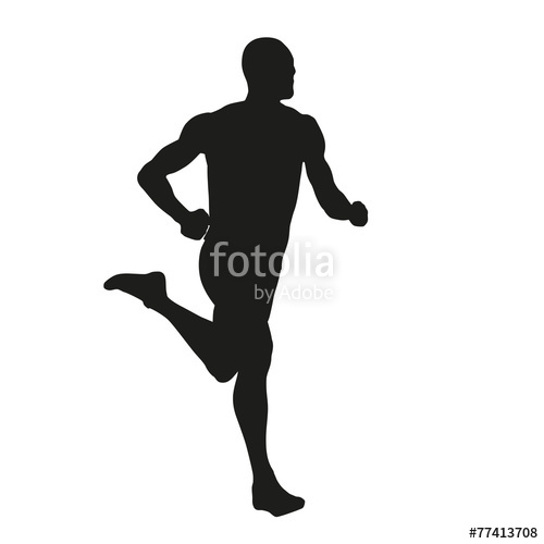 500x500 Vector Runner Silhouette Stock Image And Royalty Free Vector