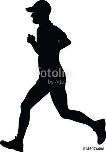 348x500 Runner Silhouette Vector Stock Image And Royalty Free Vector