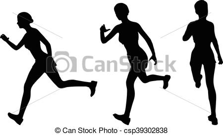450x273 Eps 10 Vector Illustration Of Runner Silhouette Vectors