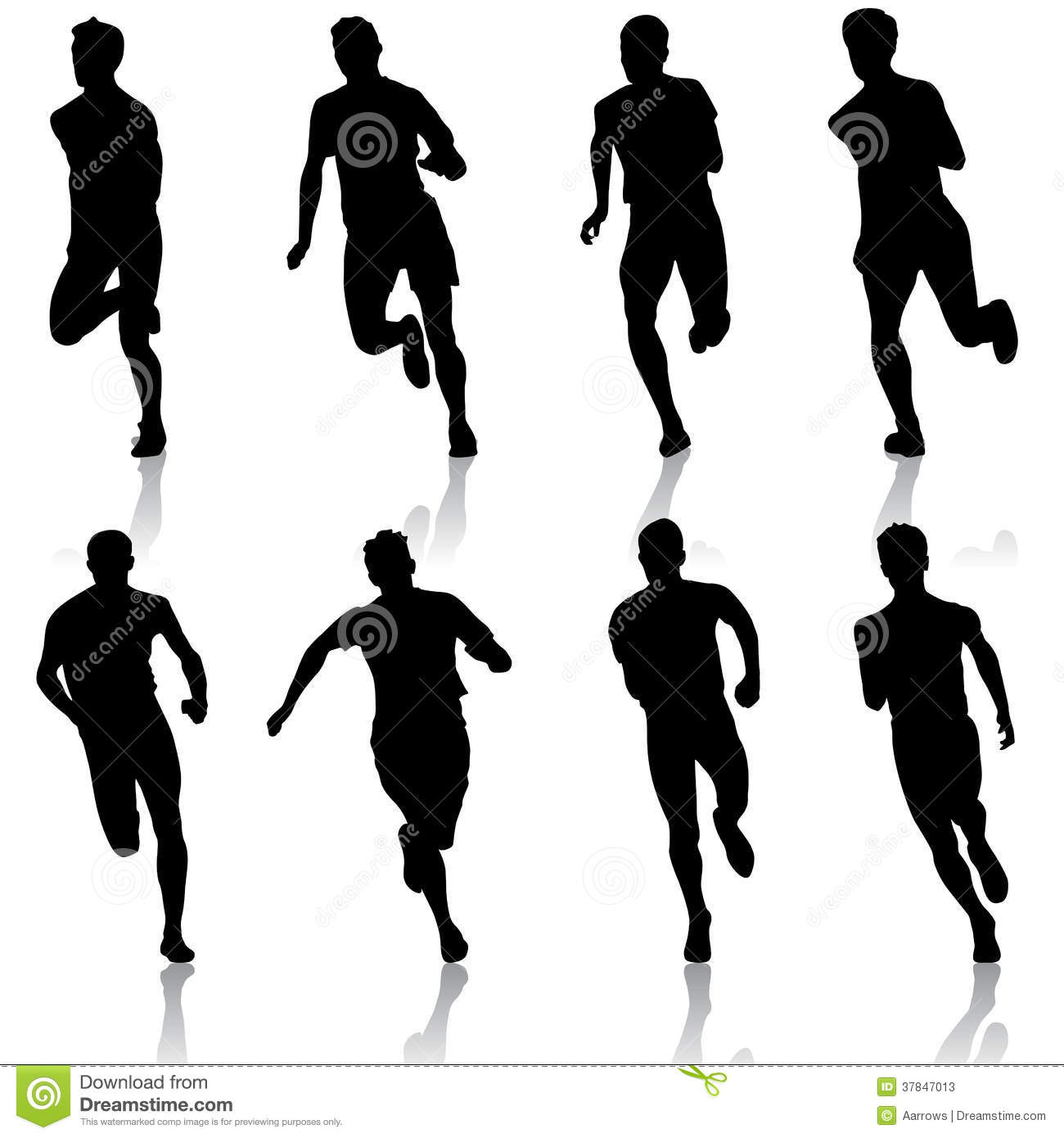 1300x1390 15 Silhouetted Runners Vector Files Images