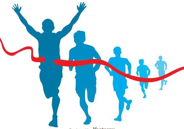 632x443 Marathon Runner Vector Free Vector Download 273379 Cannypic