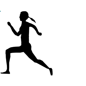 300x300 Runner Girl Silhouette Clipart, Cliparts Of Runner Girl Silhouette