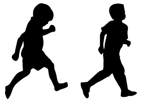 500x350 Runner Silhouette See, How Cute They Are! Two Naughty Child